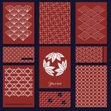 Japans sashikomotief Vector originele klaar voor beste af:drukken Aziatisch patroon Abstracte achtergrond Handwerktextuur traditi vector illustratie