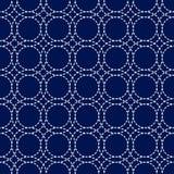 Japans sashikoornament Aziatische borduurwerkmotieven stock illustratie