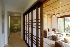 Japans-stijl binnenmilieu Royalty-vrije Stock Afbeeldingen