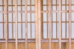 Japans-stijl houten deuren Royalty-vrije Stock Foto's