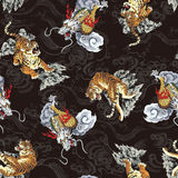 Japans tijgerpatroon Royalty-vrije Stock Foto's