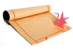Japans traditioneel origami en document met exemplaar s Stock Foto