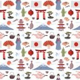 Japans vectorpatroon royalty-vrije illustratie