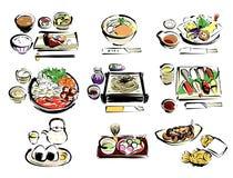 Japans voedsel royalty-vrije illustratie