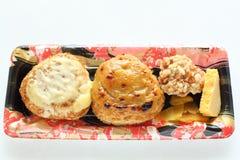 Japans voedsel, eigengemaakte rijstbal met Miso Stock Foto