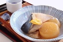 Japans voedsel, Nimono Royalty-vrije Stock Afbeeldingen