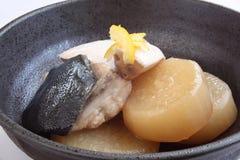 Japans voedsel, Nimono Stock Afbeelding