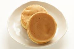 Japans voedsel, zoete pancake Imagawayaki royalty-vrije stock foto's