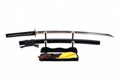 Japans zwaard op tribune Stock Afbeelding
