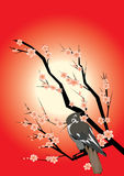 Japanse achtergrond Stock Afbeelding