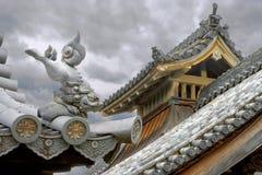 Japanse architectuur Lion Figure Roof Guardian Stock Foto's