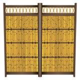 Japanse Bamboeomheining Stock Afbeeldingen