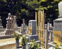 Japanse Begraafplaats - Tempel Eikando - Kyoto Stock Foto's