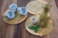 Japanse Belang het drinken reeks royalty-vrije stock afbeeldingen