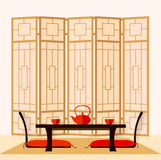 Japanse Binnenlandse vector Royalty-vrije Stock Foto