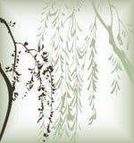 Japanse bloemenachtergrond vector illustratie