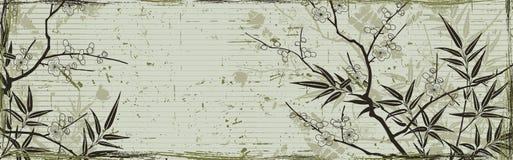Japanse bloemenachtergrond Stock Afbeelding