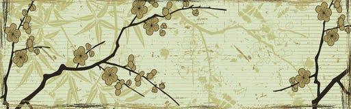 Japanse bloemenachtergrond royalty-vrije illustratie