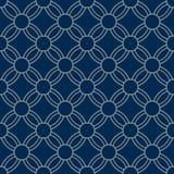 Japanse Bloemencirkel Art Seamless Pattern vector illustratie