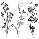 Japanse bloemenontwerpreeks Stock Fotografie