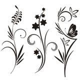 Japanse bloemenontwerpreeks vector illustratie