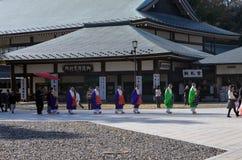 JAPANSE BOEDDHISTISCHE MONNIKEN Stock Foto