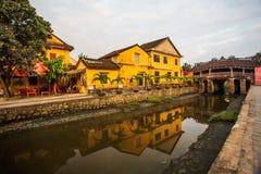Japanse Brug in Hoi vietnam Dok, visserij royalty-vrije stock foto