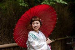 Japanse bruid Stock Foto's