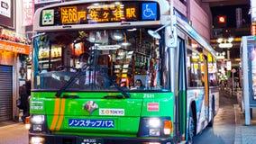 Japanse Bus die naar Asagaya-Post gaan Royalty-vrije Stock Afbeeldingen