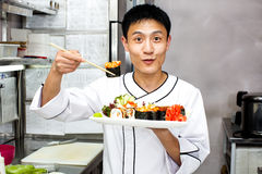 Japanse chef-kok Royalty-vrije Stock Fotografie