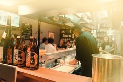 Japanse chef-koks stock afbeeldingen