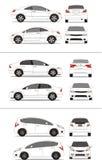 Japanse compacte auto Royalty-vrije Stock Afbeeldingen