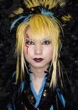 Japanse cosplay ventilator in harajuku Tokyo Japan Stock Foto's