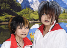 Japanse cosplay ventilators in harajuku Tokyo Japan Royalty-vrije Stock Afbeeldingen