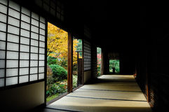 Japanse culture wooden house Stock Photos