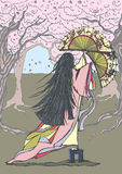 Japanse danser Stock Afbeelding