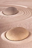 Japanse de meditatietuin van de zensteen Stock Fotografie