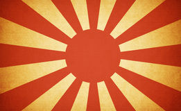 Japanse de oorlogsvlag van Grunge Royalty-vrije Stock Foto's