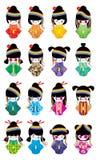 Japanse de regenboogreeks van Harajuku van het poppenmeisje Royalty-vrije Stock Foto