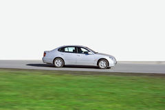 Japanse de sedanauto van de luxe wordt geïsoleerdt die van Stock Afbeelding