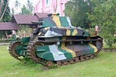 Japanse die tank in Filippijnen na WW2 wordt verlaten Stock Afbeelding