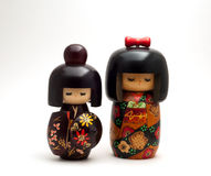 Japanse Doll Kokeshi Royalty-vrije Stock Afbeeldingen