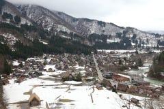 Japanse dorpsshirakawago in de winter Stock Afbeeldingen