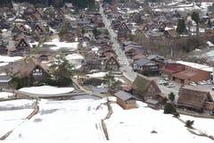 Japanse dorpsshirakawago in de winter Stock Foto
