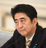 Japanse Eerste minister Shinzo Abe royalty-vrije stock foto