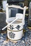 Japanse emmer met dipper Stock Fotografie