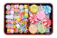 Japanse färgrika godisar arkivbilder