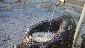 Japanse fontein4k definitie stock footage