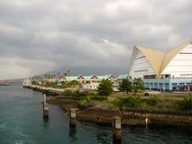 Japanse gebouwen bij de de veerboothaven van Kagoshima royalty-vrije stock foto
