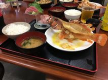 Japanse gebraden voedselvissen Royalty-vrije Stock Fotografie